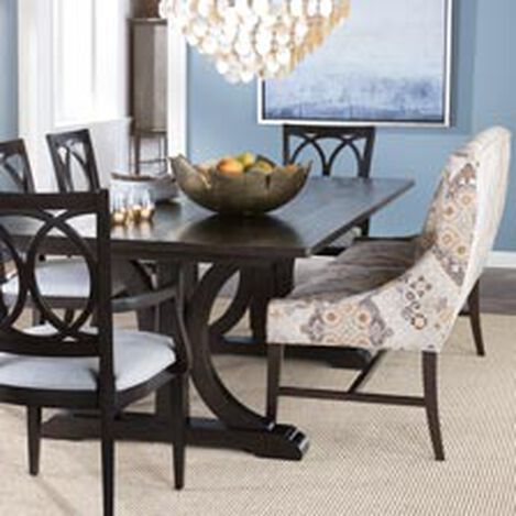 Large Corin Rough Sawn Trestle Dining Table Hover Image