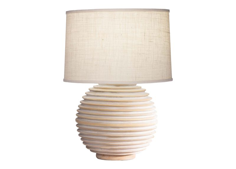 Images crosby wooden table lamp large gray