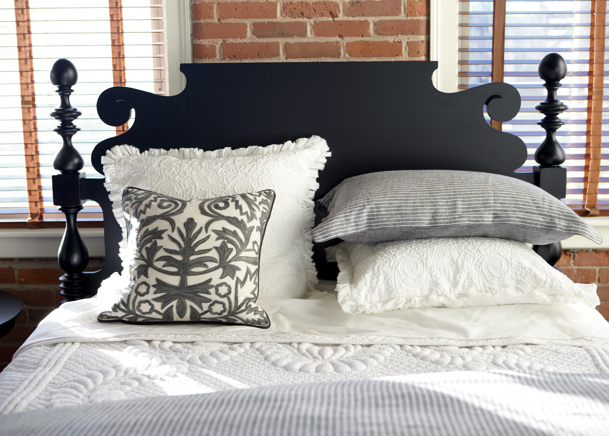 distributor formal blue pillows oxford izod of plaid trellis pinstripe max linens pillow wholesale