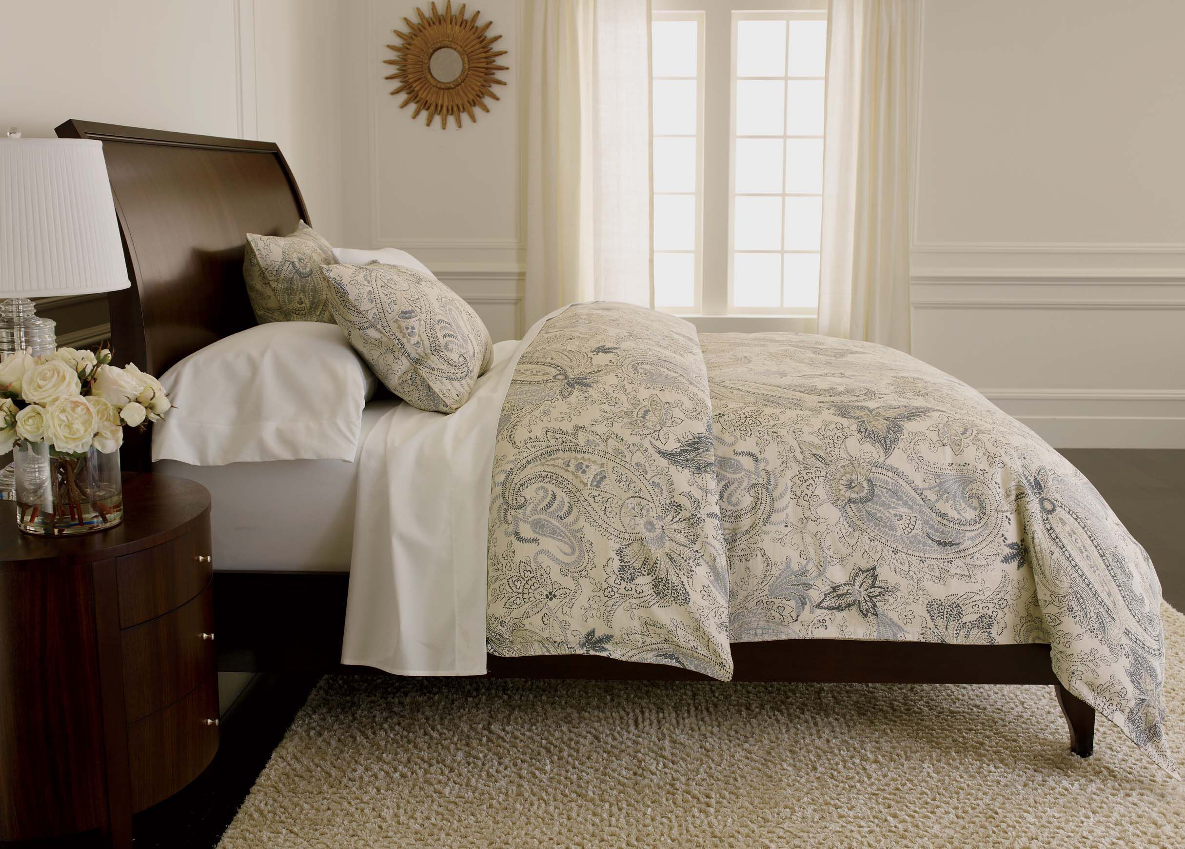 warm set p pc click duvet cover comforter bed multi paisley expand to lauren