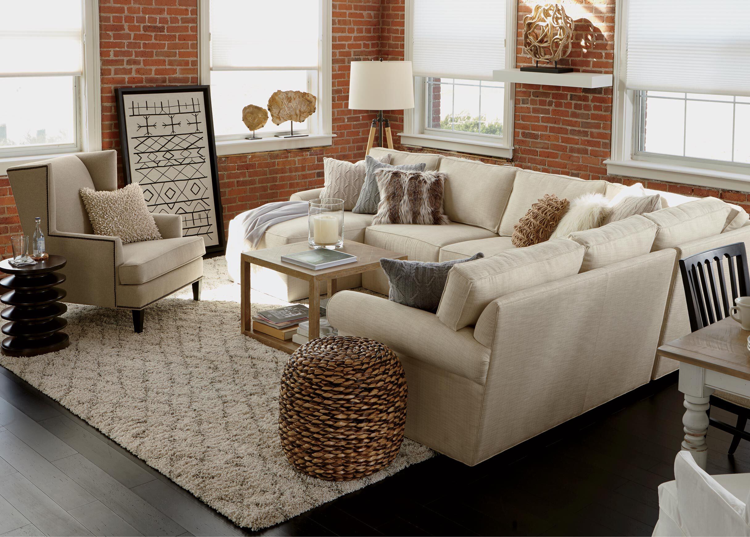 Retreat Roll-Arm Sectional with Chaise   alt : ethan allen sectionals - Sectionals, Sofas & Couches