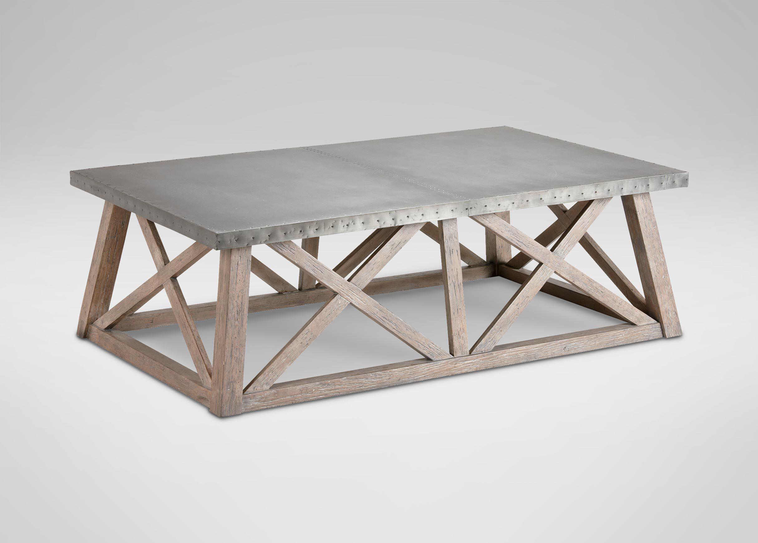 Charming Bruckner Metal Top Coffee Table , , Alt