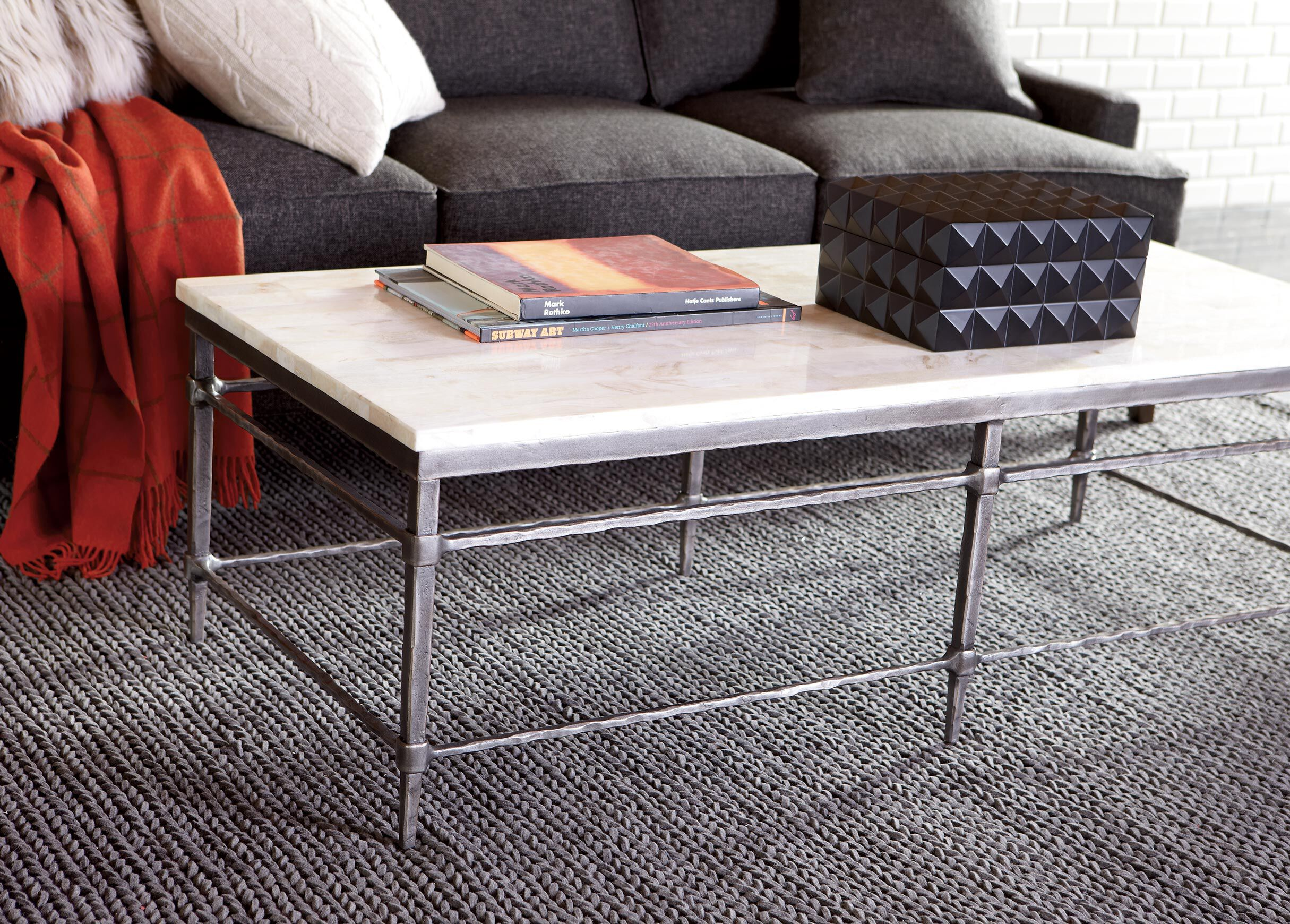 Vida Stone Top Coffee Table , , Alt