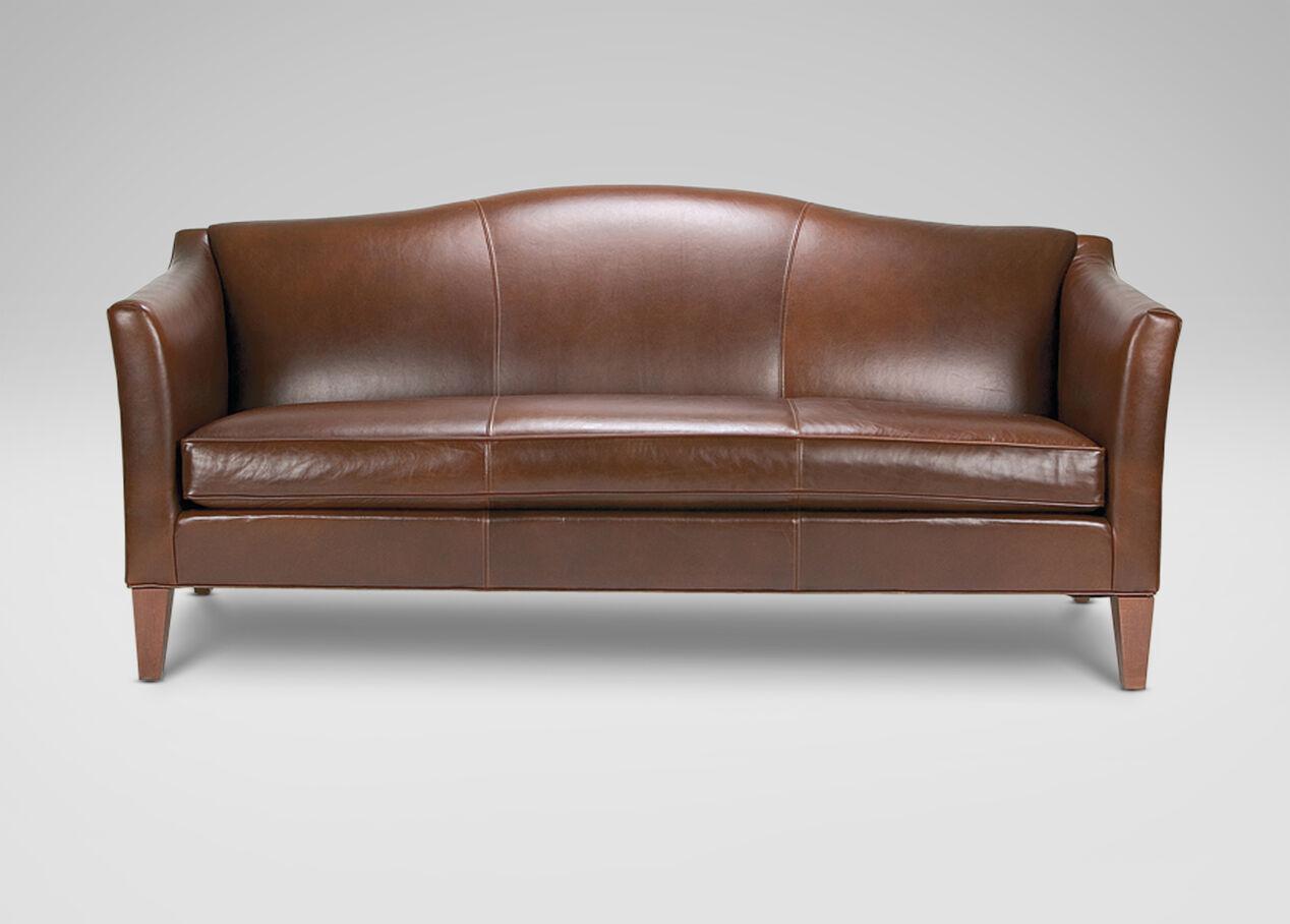 Hartwell Bench-Cushion Leather Sofa - Ethan Allen | SiteGenesis ...