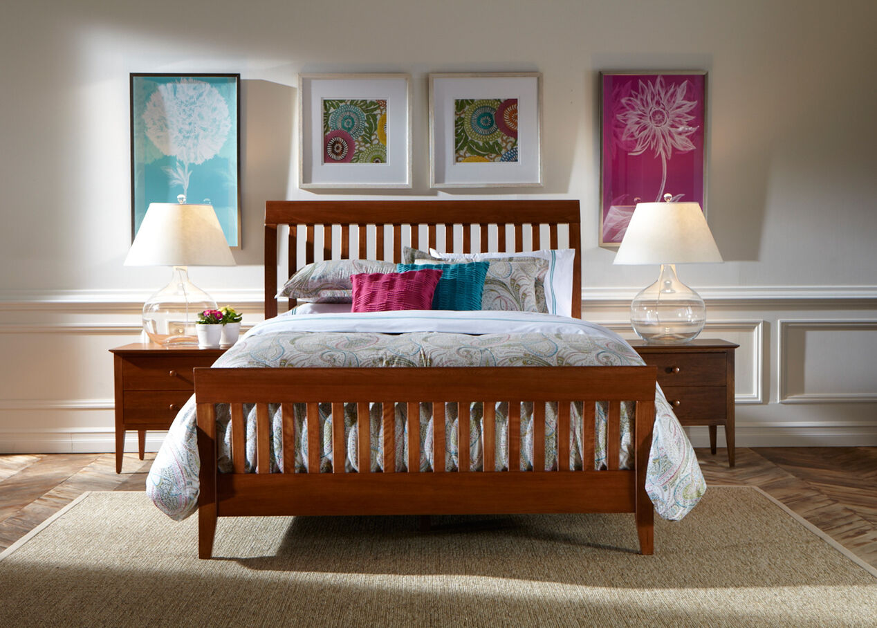 97 gray sleigh bed