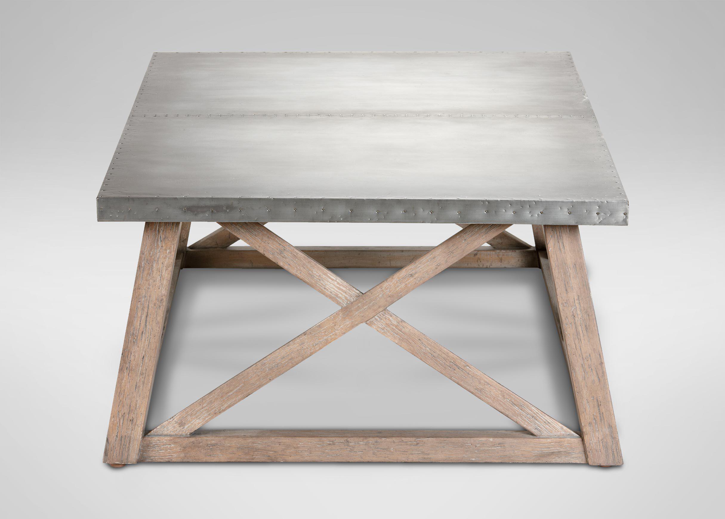 Bruckner Metal Top Coffee Table Ethan Allen new site