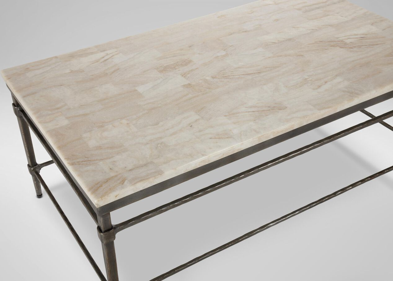 Faux stone coffee table