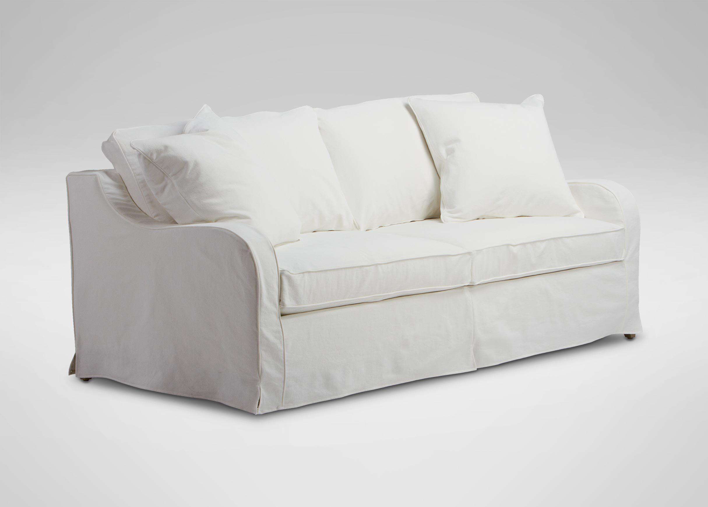 arm slipcovered seaside keep a sofa roll best to slipcover beautifully how clean white english