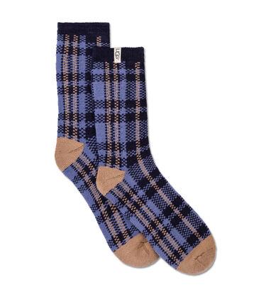 Plaid Crew Sock