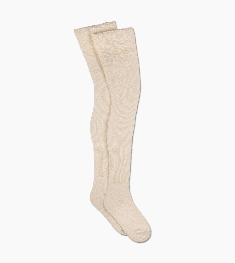 Slouchy Slub Thigh High Sock - Image 2 of 2