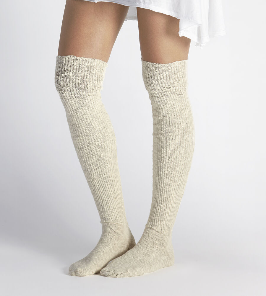 Slouchy Slub Thigh High Sock - Image 1 of 2