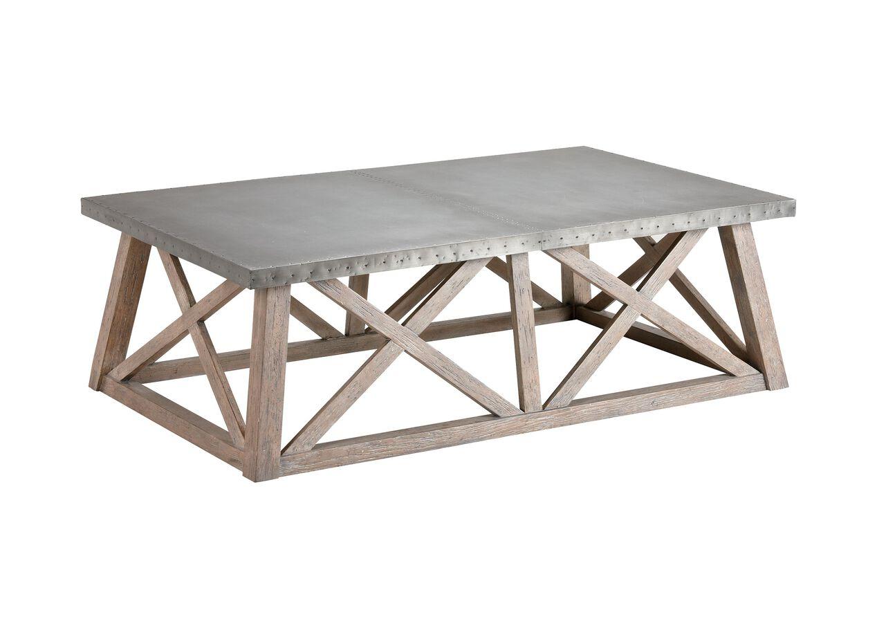 bruckner metal-top coffee table | coffee tables