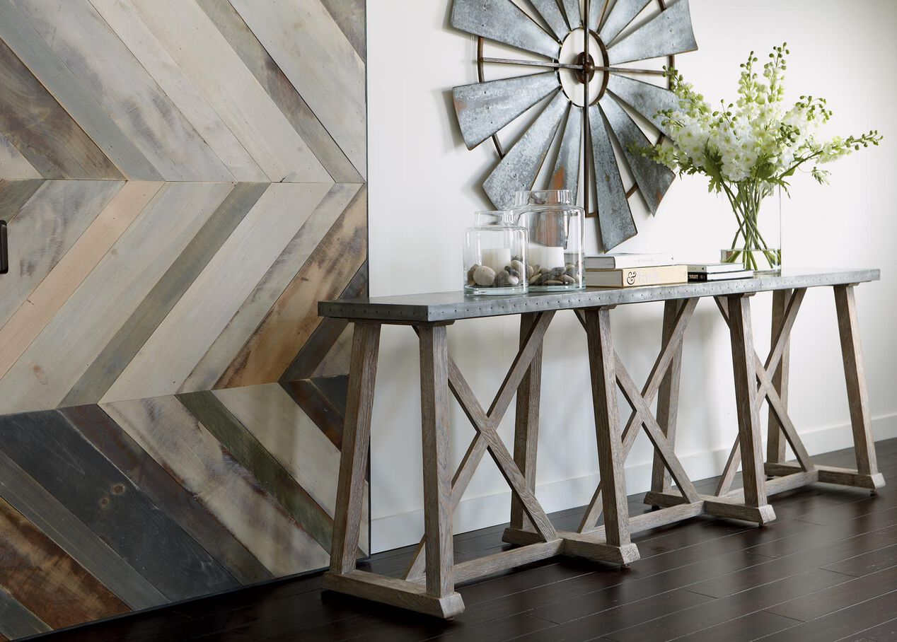 bruckner metal-top console table | console tables