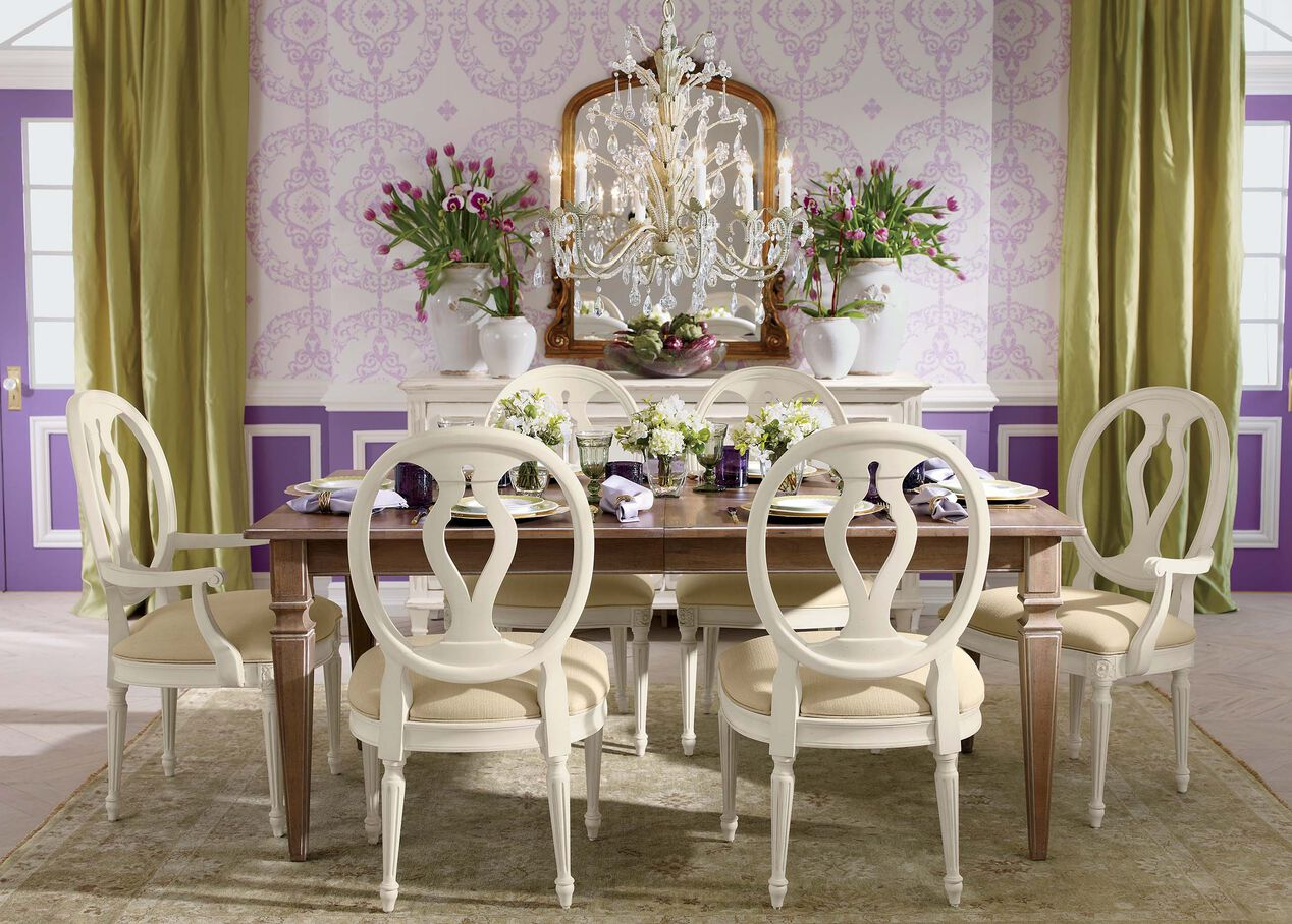Avery extension dining table dining tables for V dining room table
