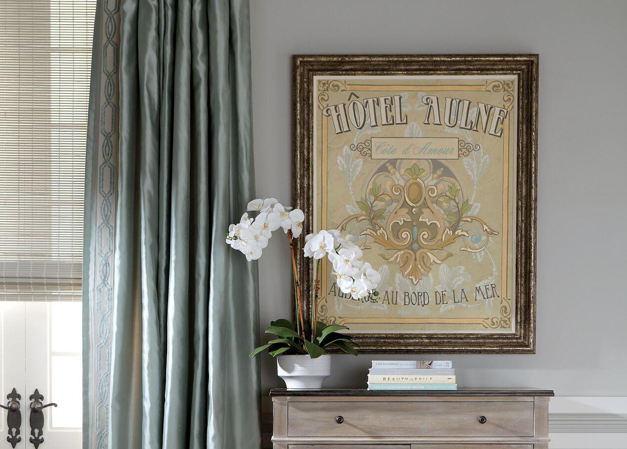 Ethan allen window treatments - White Orchid In Ceramic Pot Alt