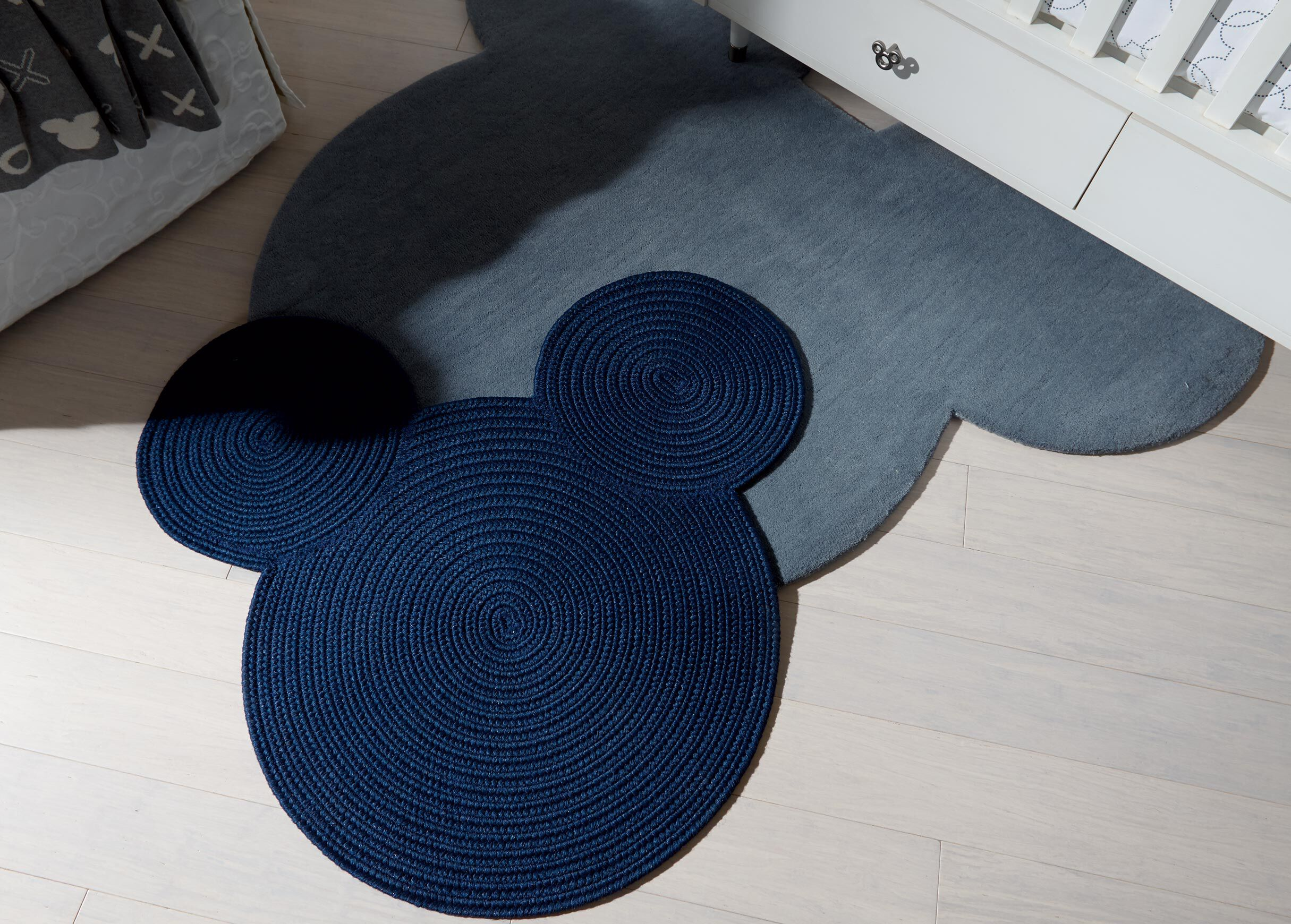Braided Mickey Mouse Rug , , Alt