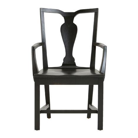 Maddox Wood-Seat Armchair ,  , large