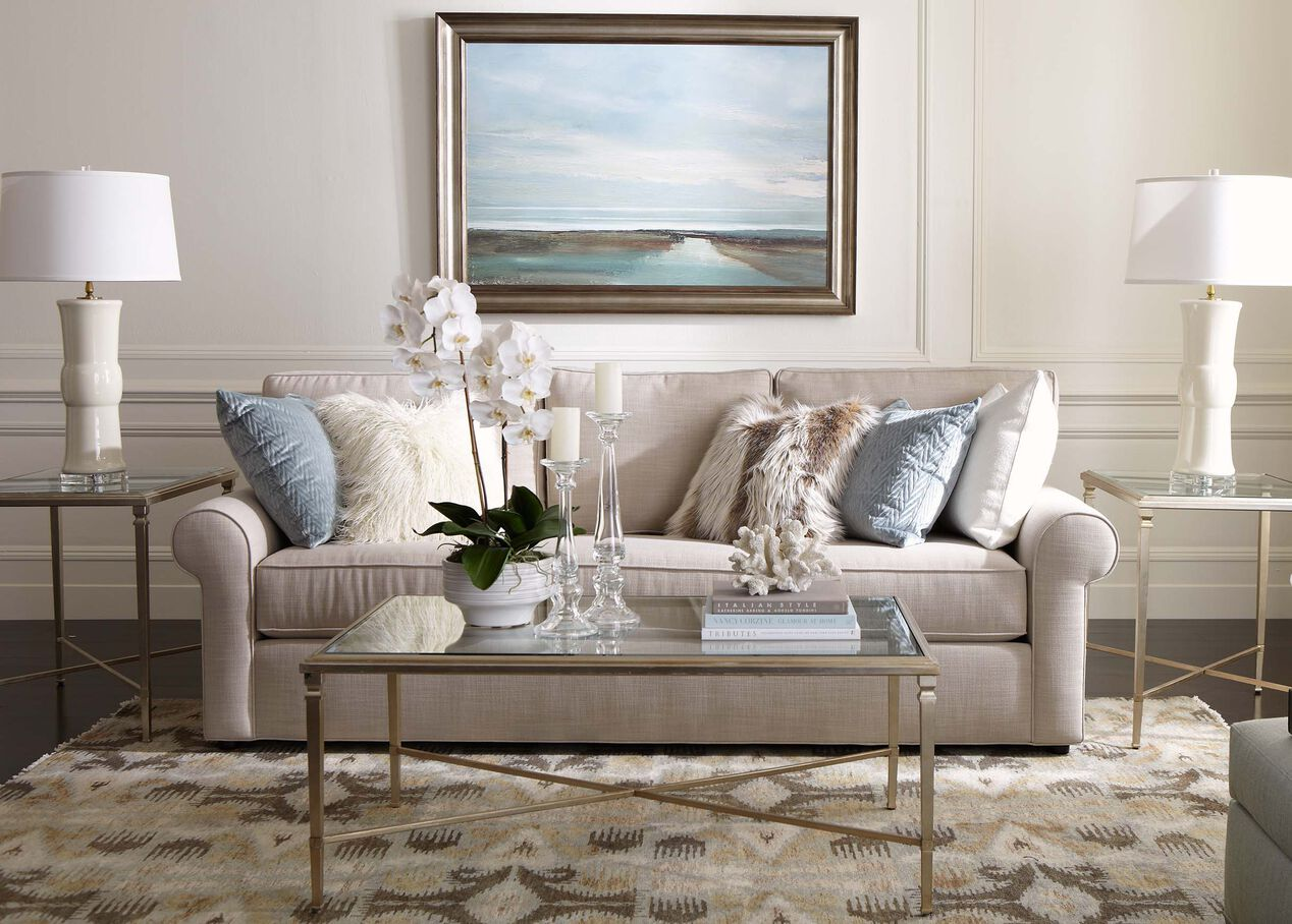 Living Room Furniture Ethan Allen Retreat Roll Arm Sofa Sofas Loveseats