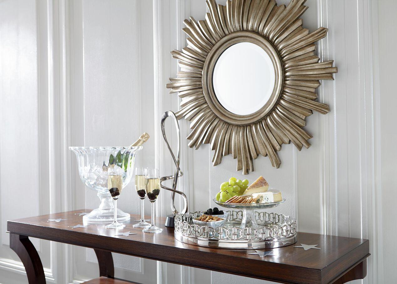 Ethan Allen Livingston Dining Table Glamour Starburst Mirror Ethan Allen