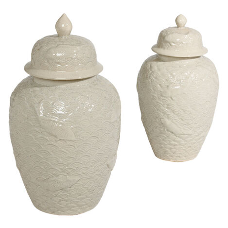 Koi Fish Temple Jars ,  , large