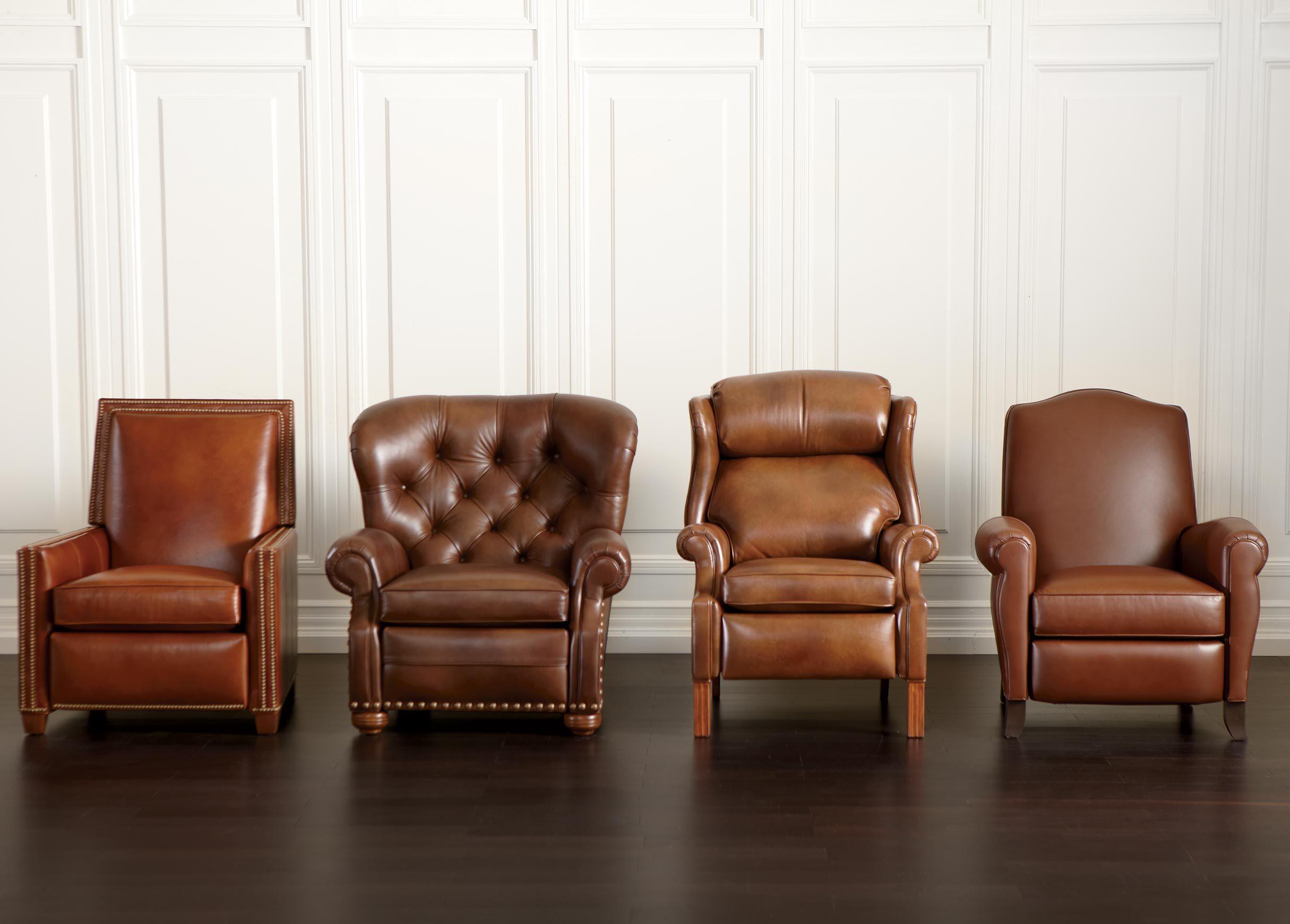 Lovely Randall Leather Recliner , , Alt