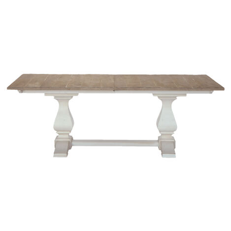 Cameron Extension Rustic Dining Table Large